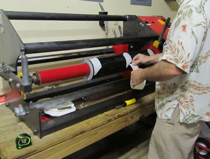 How We Cut Down Or Resize A Roll Of Sign Vinyl Tape